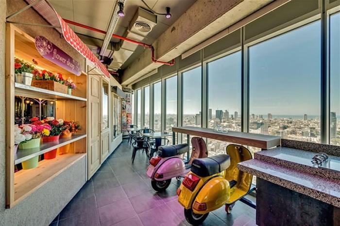 Oficinas Google en Tel Aviv. Mirador desde la Torre Electra.