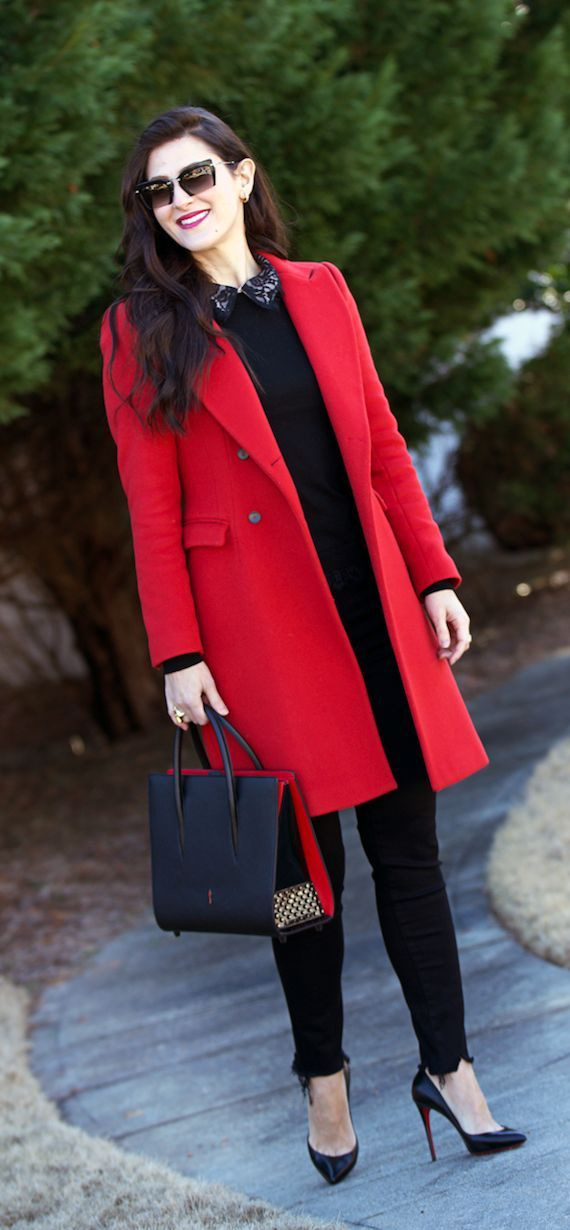 850bf0386c4 Teodora s Lookbook red coat outfit