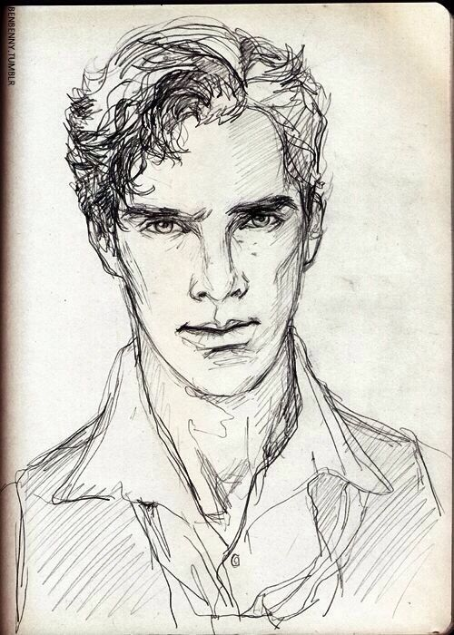 Sketch of Benedict Cumberbatch. Tumblr.