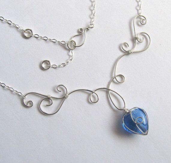 Elven Grace Necklace  Sterling Silver Filled di FantasiaElegance, $35.00