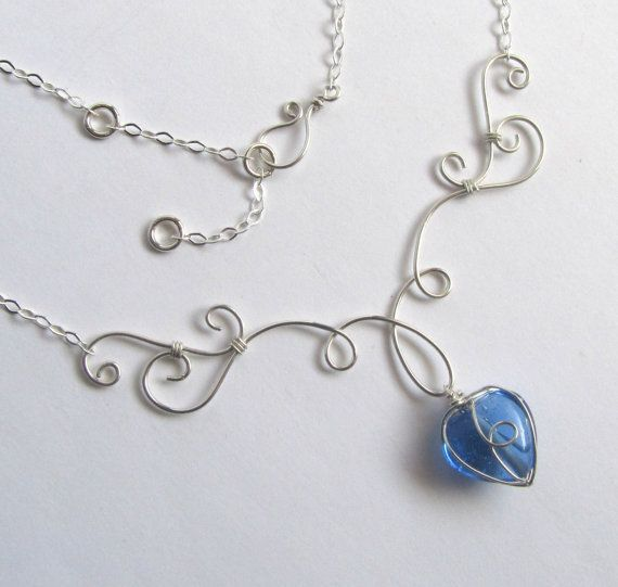 Elven Grace Necklace  Sterling Silver Filled di FantasiaElegance, $35.00