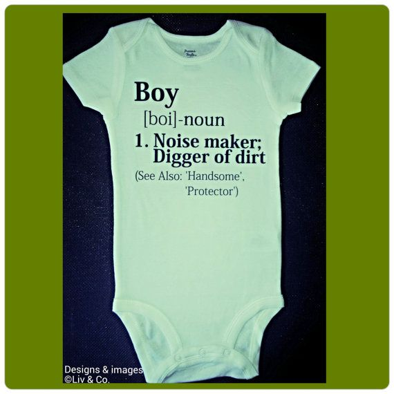 Funny Baby Boy Clothes, Baby Bodysuits, Baby One Piece, Shirt, Boy Definition, Cute Baby Clothes, Matching Family Shirts, Gift, Liv & Co.