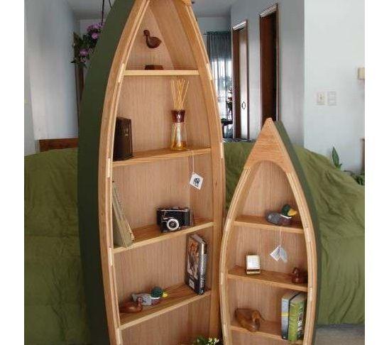 Canoe Bookshelf Plans