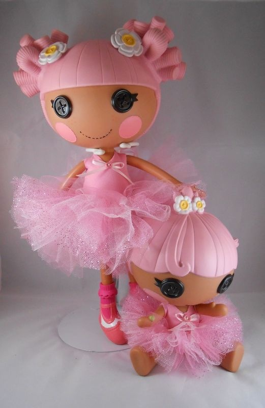 Lalaloopsy Clothes! Big & LITTLE Pink Princess Tutu Dress Set Hand Made!