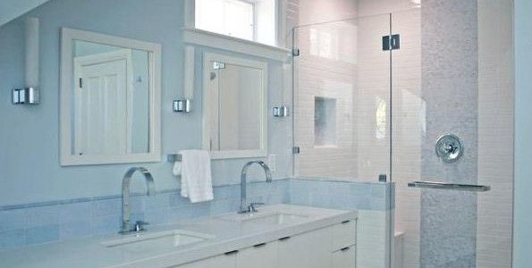 blue gray bathroom with white cabinets | ... and Wonderful Blue Bathroom Designs Furniture and Bathroom Accessories