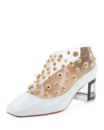 55aeeddbf28 Space+Odd+Studded+Red+Sole+Bootie+by+Christian+Louboutin+at+Bergdorf+Goodman .