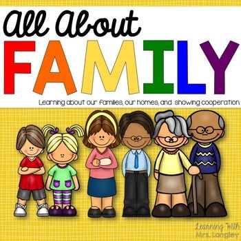 This All About Family unit is a kindergarten unit I use at the beginning of the year to learn more about our families.  Included in this file: Detailed Lesson Plans (includes lists of books that are great for teaching about the family unit)My Family Little BookFamily Resource page (color and B&W) Family Resource cards (color and B&W) High Frequency Word Little Book about familiesAnchor Chart HeadersJobs at Home Resource page (color and B&W) Jobs at Home Resource cards (color and B...