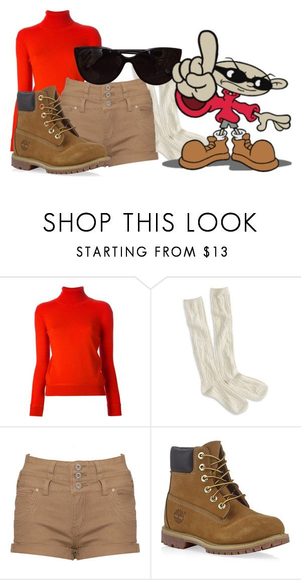 """""""Nigel Uno ( Codename Kids Next Door)"""" by princessmikyrah ❤ liked on Polyvore featuring Carven, American Eagle Outfitters, Timberland and Tiffany & Co."""