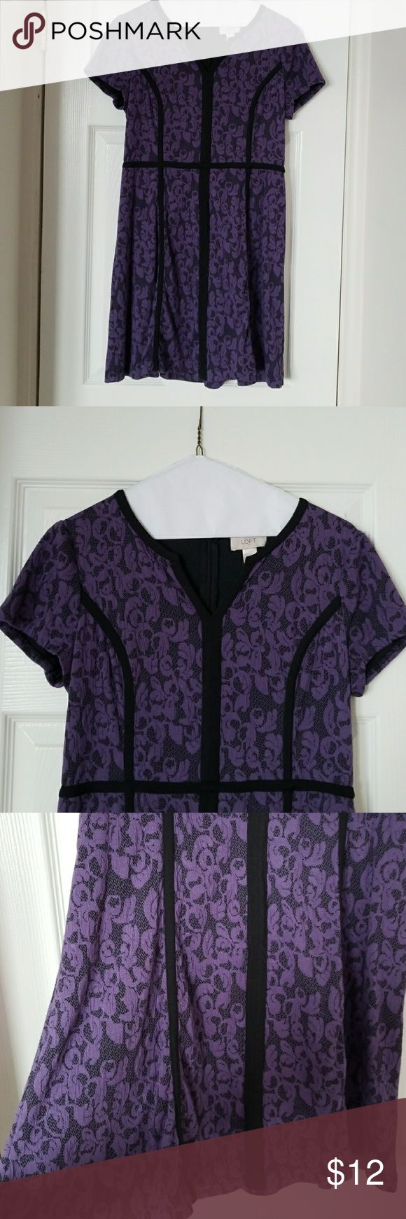 Beautiful purple work dress This is a flowy and forgiving dress. It is soft and very comfortable with short sleeves. Ann Taylor Dresses