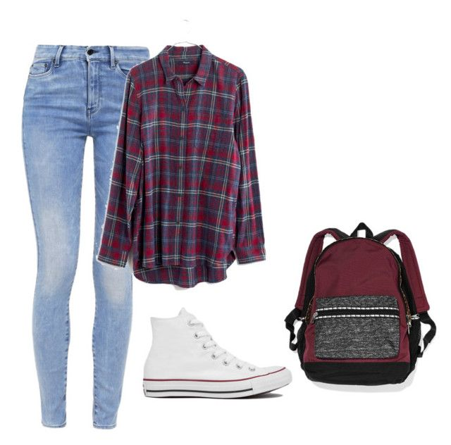 """Lazy school day"" by fashionlover4562 ❤ liked on Polyvore featuring Converse, G-Star, Madewell and Victoria's Secret"