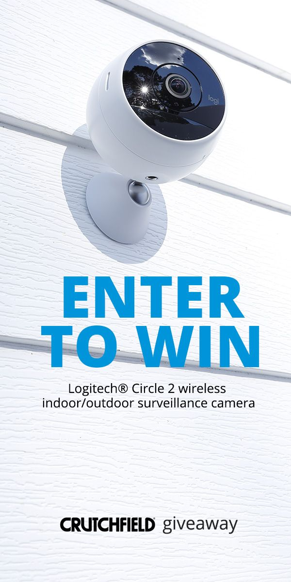 #Win 1 of 4 Logitech Circle 2 wireless security cams from @crutchfield   http://swee.ps/fCnayTvEC 11/20