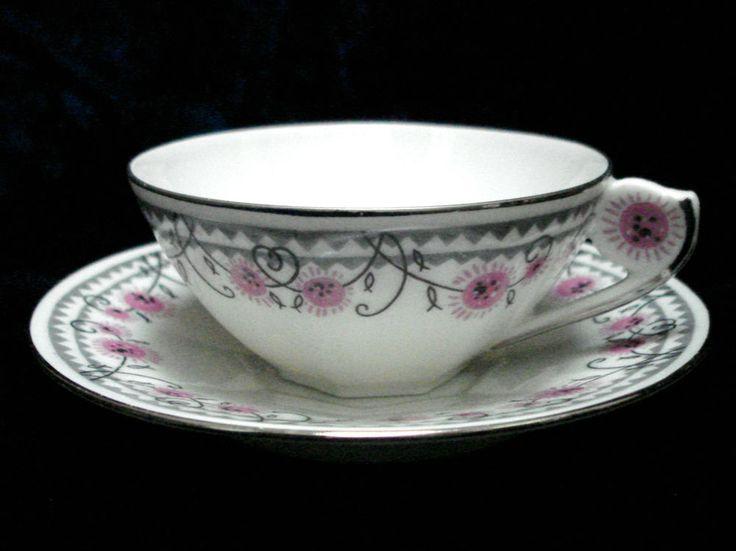 stunning art deco marcel chabrol limoges france porcelain china vintage tea cup art deco. Black Bedroom Furniture Sets. Home Design Ideas