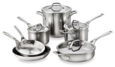 Calphalon AccuCore 10-Piece Cookware Set traditional cookware and bakeware