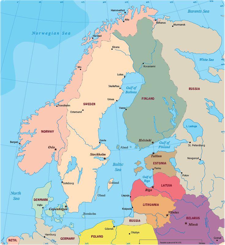 Baltic region map