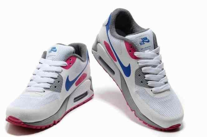 2015 Cheap Air Max 90 Hyperfuse Prm Womens Shoes For Sale Grey White Blue…