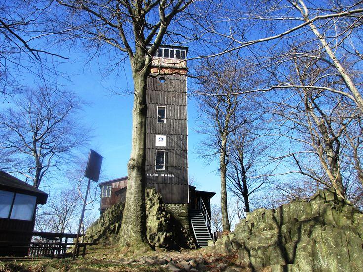 Rozhledna Vlčí hora - severní Čechy