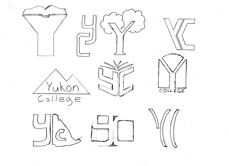 Part 2: These are the logo concepts I drew up.  I figured that the right logo in the second row had the most potential without looking too regional, so that is the version I opted to expand on.