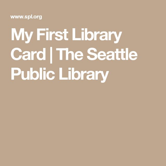 Best My First Library Card Images On   Library Cards