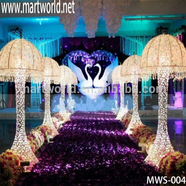 2017 New design Umbrella shape high quality wedding pillar ;Roman LED pillar for wedding events&party(MWS-004)