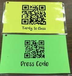 Using QR codes to track behavioral issues. Gives time stamp and paper trail for backup when necessary.