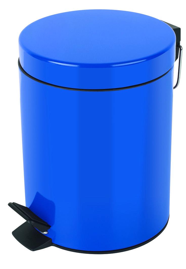 Spirella blue sydney pedal bin bathroom blue blue for Blue bathroom bin
