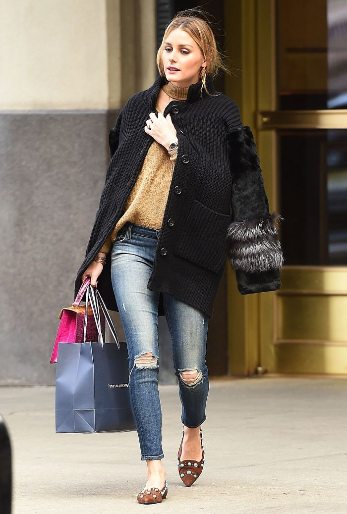 Olivia Palermo shows us how to style one Storets sweater in various ways, proving it should be a staple in everyone's closet.