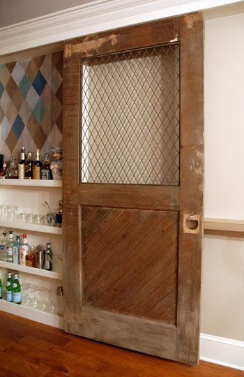 Replace glass in old door with chicken wire. Attach window box and plant climbing vines & 279 best Chicken wire fun images on Pinterest | Chicken wire ... Pezcame.Com