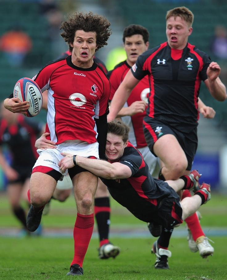 Wales James Davies hauls down Canadas Taylor Paris