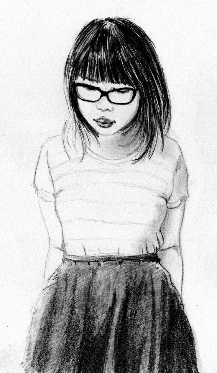 raisedbyothers - graphite - glasses and skirt
