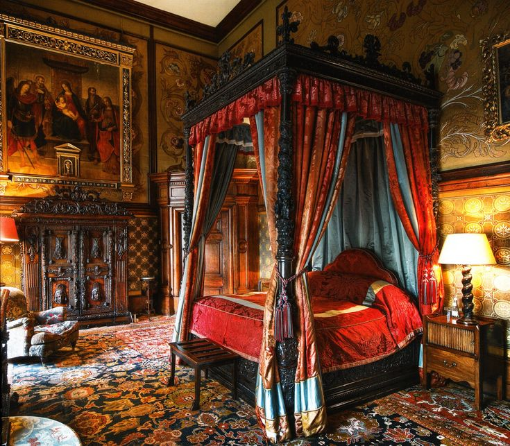 A State Bedroom at Eastnor Castle near Ledbury, Herefordshire, England