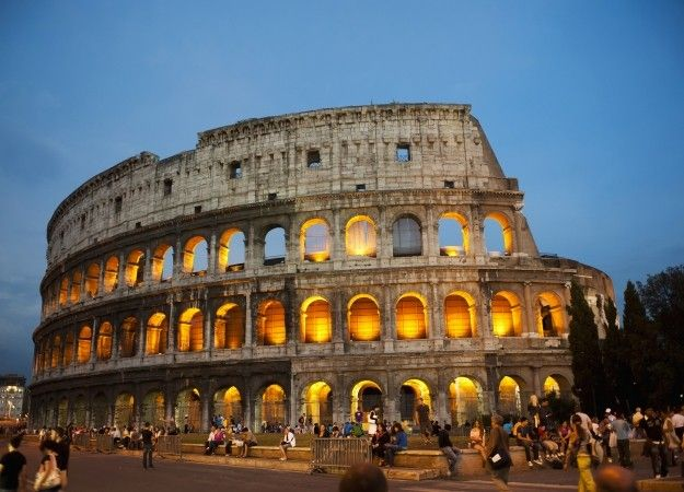 The Colosseum: go sightseeing in the heart or Rome. For an ultimate travel bucket list go to www.redonline.co.uk