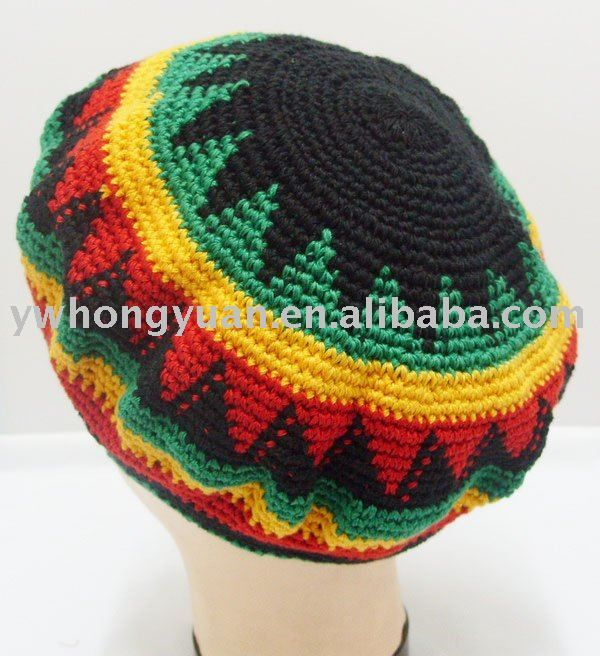 Knitted Fingerless Gloves Free Pattern : gorros a crochet rasta - Buscar con Google Boinas y gorros caidos a Crochet...