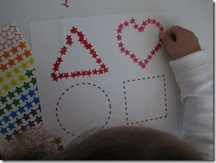 fine motor - sticker activity