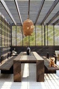 "indoor outdoor living  contemporary design - collected by linenandlavender.net for ""Alfresco-Outdoor Living"" - http://www.pinterest.com/linenlavender/alfresco-outdoor-living/"