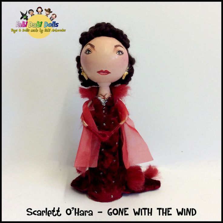 Scarlett OHara peg doll from FaBi DaBi Dolls