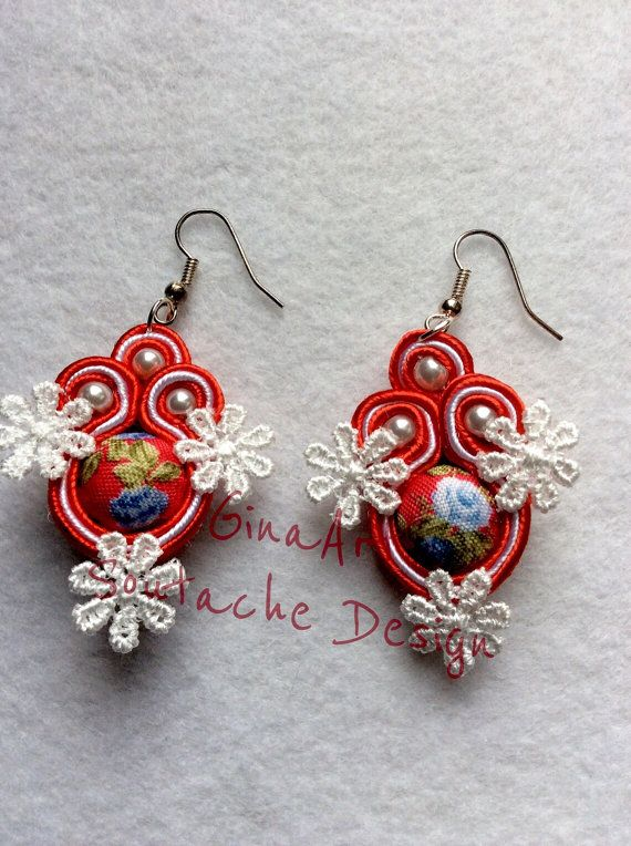 Flower power soutache earrings