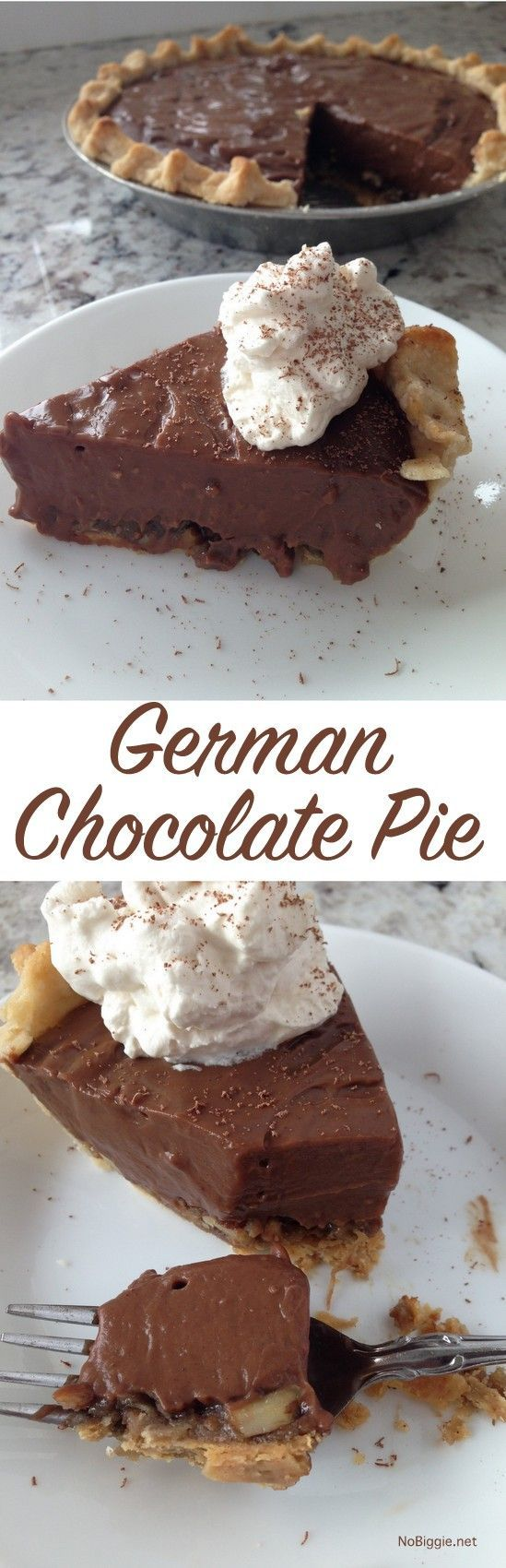german chocolate pie - like german chocolate cake...only PIE! | http://NoBiggie.net