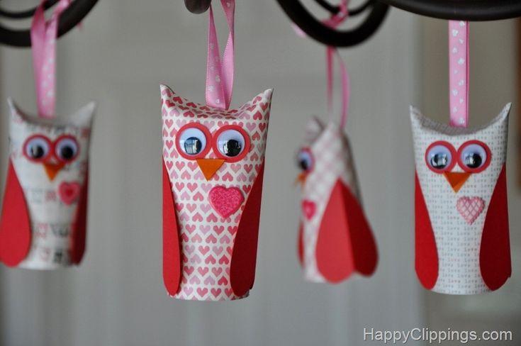 Adorable #Valentine Paper owls
