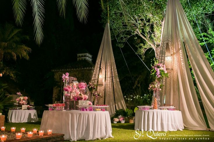 Decoracion boda en jardin elegant villa wedding for Decoration jardin soiree