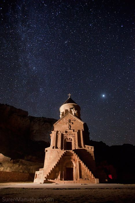Armenian Church and Milky Way (one of Suren Manvelyan's photos in his Night Armenian Spirit series)