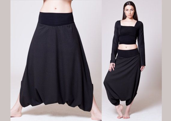 Elegant and subdued, these Royal design Michella skirt pants actually do have an air of royalty to them due to the rhombus diamond patterned fabric.