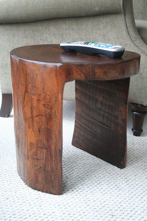 Stump Stool/Side Table By TheHiddenCardinal On Etsy