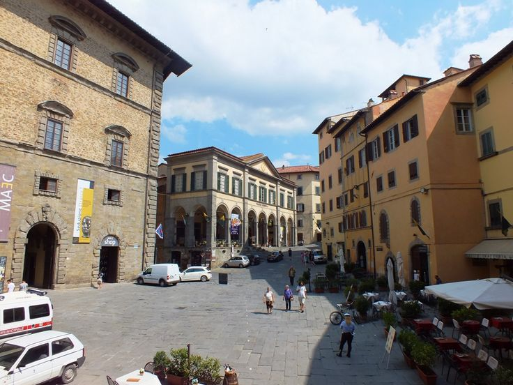 Cortona, view of Piazza Signorelli from the Town Hall main entrance