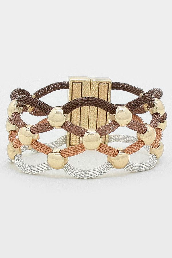 Mesh Andrea Bracelet in Latticed Ombre | Women's Clothes, Casual Dresses, Fashion Earrings & Accessories | Emma Stine Limited #streetstyle