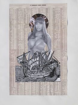 OCTOROON  MADONNA II, 2001, by Godfried Donkor