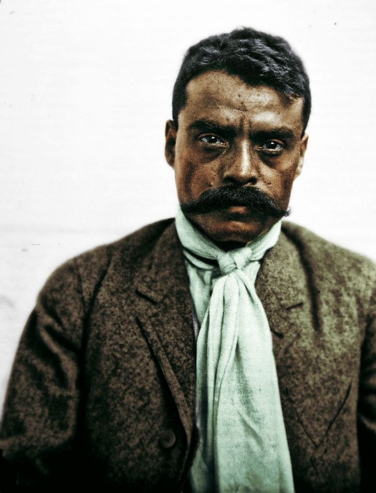 Emiliano Zapata Salazar (1879-1919) was a leading figure in the 1910 Mexican Revol. & is still revered today. He formed an important revolutionary force, the Liberation Army of the South. Followers of Zapata were known as Zapatistas.