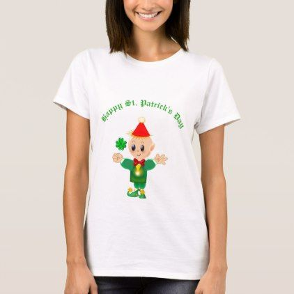 Happy St. Patrick's Day Elf T-Shirt - st patricks day gifts Saint Patrick's Day Saint Patrick Ireland irish holiday party