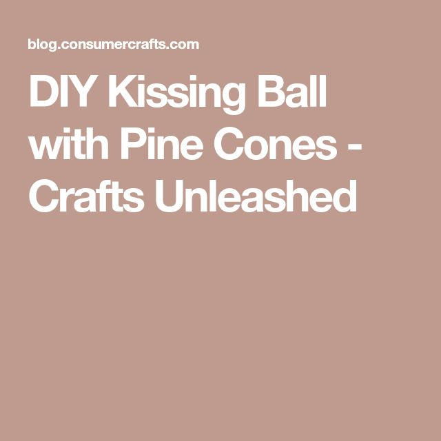 DIY Kissing Ball with Pine Cones - Crafts Unleashed