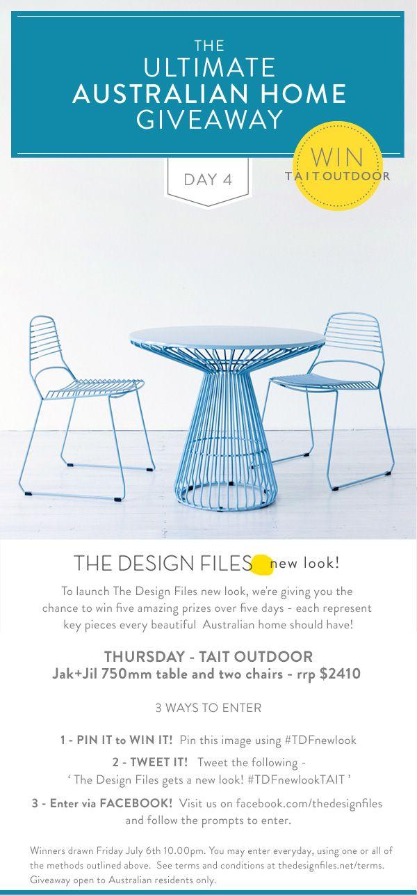 The Design Files gets a new look!  #TDFnewlookTAITThedesignfiles Nets, Blue Outdoor, Outdoor Furniture, Outdoor Decks, Tdfnewlook Jeez, Outdoor Sets, Design File, Design Blog, Design Website