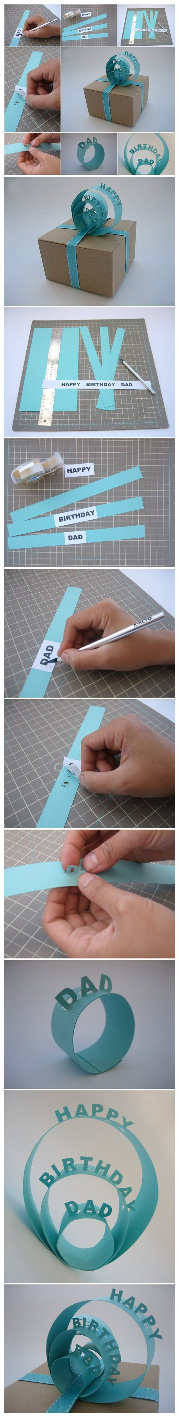 How to Make 3D Sign Gift Topper to Decorate a Gift